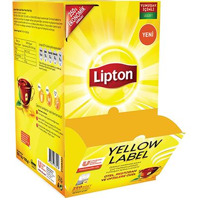 Lipton Yellow Label 250'li Bardak Poşet Çay - Lipton ile, yabancı misafirlerinizin memnuniyetini artırın.