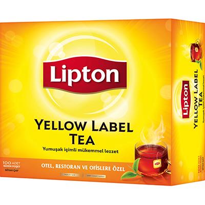 Lipton Yellow Label Bardak Poşet Çay 100'lü - Lipton ile, yabancı misafirlerinizin memnuniyetini artırın.