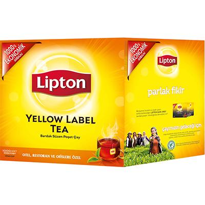 Lipton Yellow Label Bardak Poşet Çay 1000'li - Lipton ile, yabancı misafirlerinizin memnuniyetini artırın.