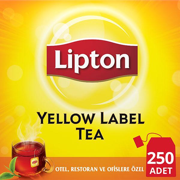 Lipton Yellow Label Bardak Poşet Çay 250'li - Lipton ile, yabancı misafirlerinizin memnuniyetini artırın.