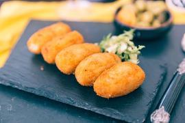 Alabalıklı Patates Lokmaları, Tartar Sos İle