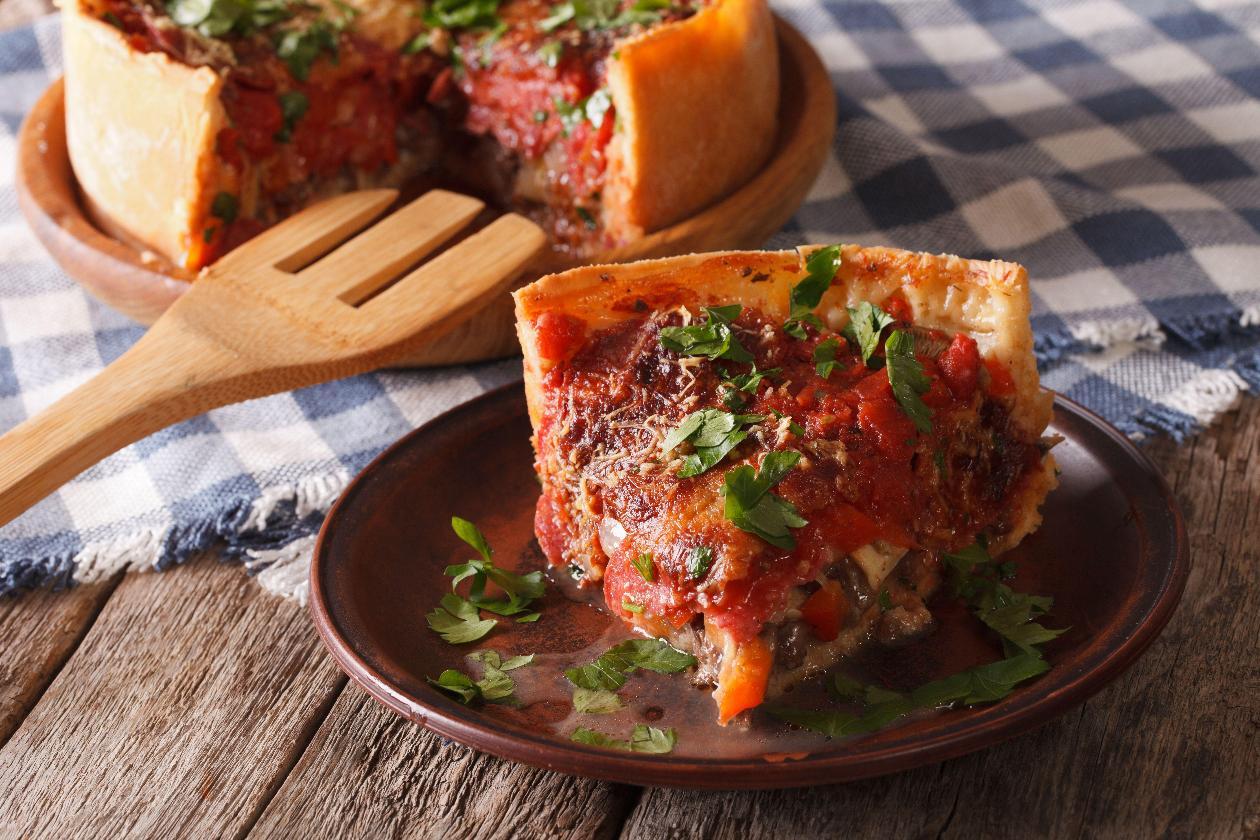 Chicago Usulü Derin Tava Pizzası