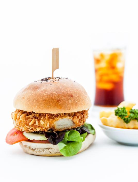Çıtır Tavuk Burger, Acılı Sarımsak Sos ile
