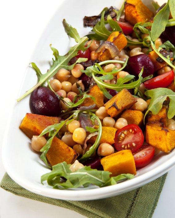 Fırınlanmış Patates Salatası, Nohut Ve Kimyon İle