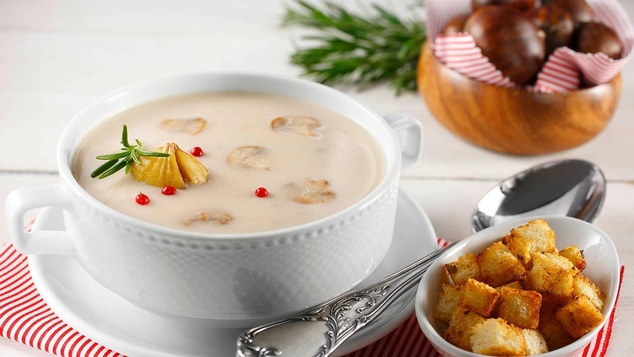 Kestaneli Mantar Çorbası