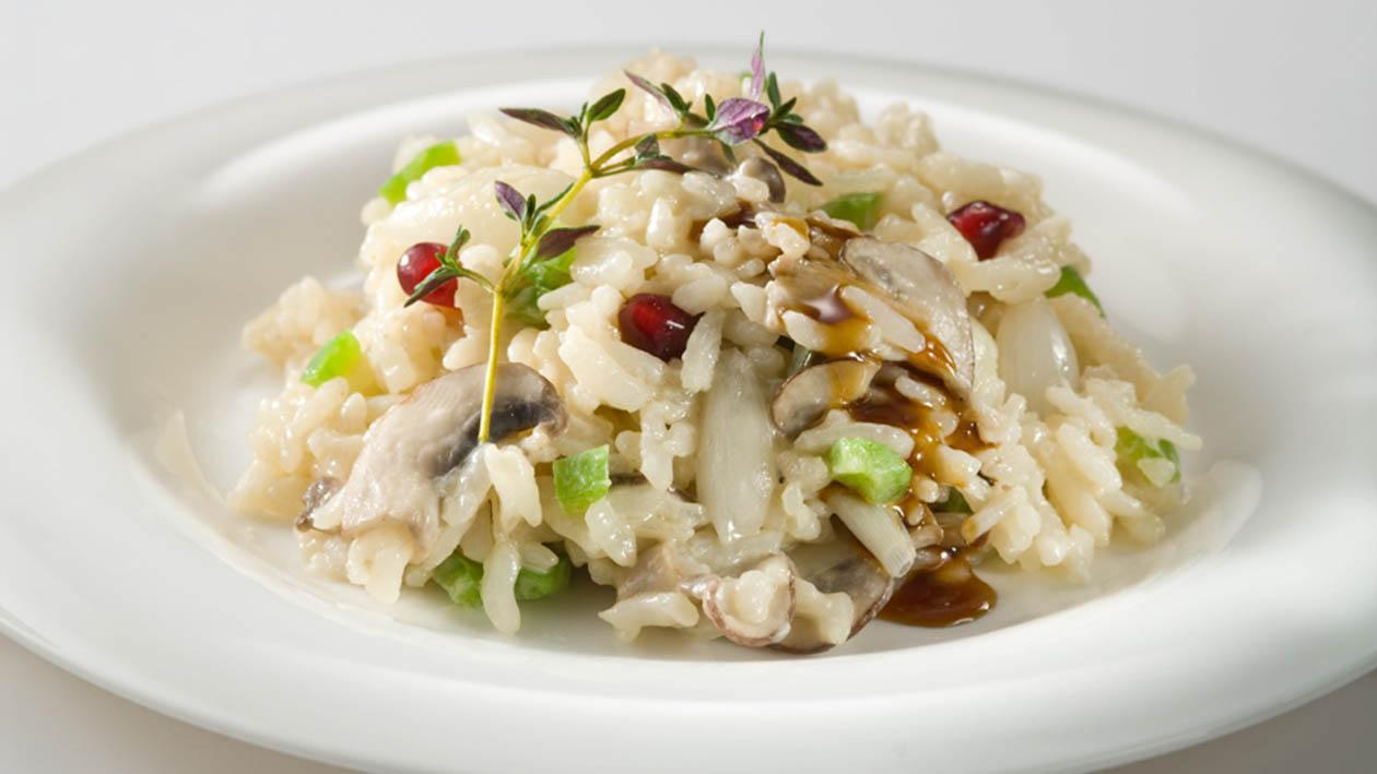 Nar ve Mantarlı Risotto