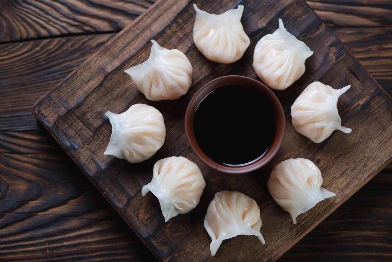 """Sebzeli Çin Mantısı """"Dim sum"""""""