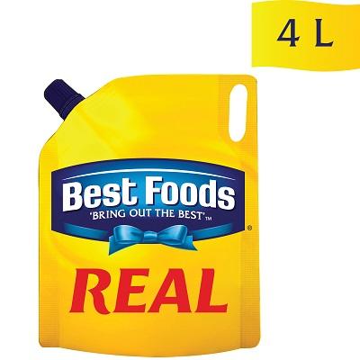 بیسٹ فوڈز رئیل مایونیز (4x4L) - ہمارا معیاری مایونیز لاتا ہے آپ کے تمام کھانوں میں بہترین ذائقہ