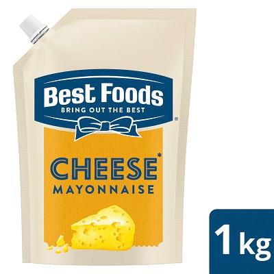بیسٹ فوڈز چیز مایونیز (12x1 KG) - بیسٹ فوڈز چیز مایونیز خرچے کی نسبت سے ایک موثر حل ہے جو دیتی ہے آپ کی ڈش کو کریمی چیز کا ذائقہ۔