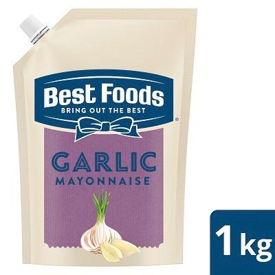 بیسٹ فوڈز گارلک مایونیز (12x1KG) - بیسٹ فوڈز گارلک مایونیز دیتا ہے لہسن کا متوازن فلیور جو آپ کے کھانوں کے ذائقے کو بڑھاتا ہے۔