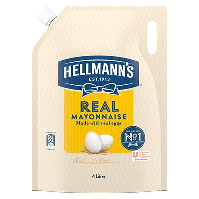 هيلمنز رئیل مایونیز (4x4L) - ہمارا معیاری مایونیز لاتا ہے آپ کے تمام کھانوں میں بہترین ذائقہ