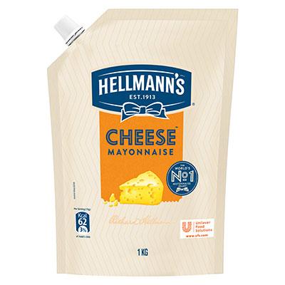 هيلمنز چیز مایونیز (12x1 KG) - هيلمنز چیز مایونیز خرچے کی نسبت سے ایک موثر حل ہے جو دیتی ہے آپ کی ڈش کو کریمی چیز کا ذائقہ۔