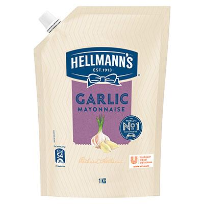 هيلمنز گارلک مایونیز (12x1 KG) - هيلمنز گارلک مایونیز دیتا ہے لہسن کا متوازن ذائقہ  جو آپ کے کھانوں کے ذائقے کو بڑھاتا ہے۔
