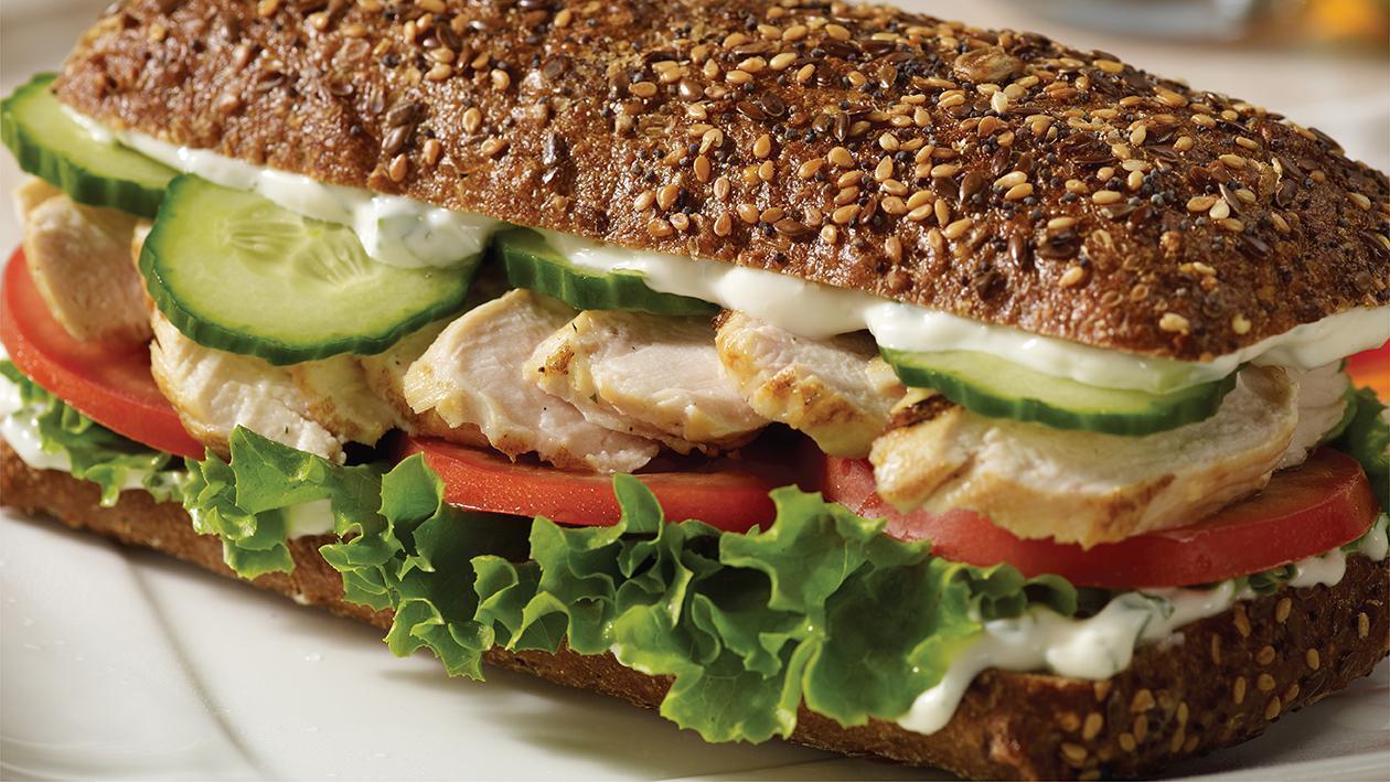 گرِیک چکن سینڈوچ