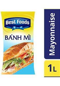 Best Foods Xôt Mayonnaise Cho Bánh Mì 1L