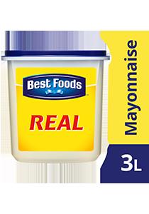 Best Foods Xốt Real Mayonnaise 3L - Best Foods Real Mayonnaise mang lại hương vị béo ngậy, đậm đặc và kết dính hoàn hảo cho món salad của bạn
