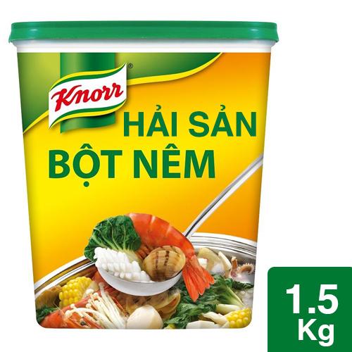 Knorr Bột Nêm Hải Sản 1.5kg - Knorr Bột Nêm Hải Sản làm từ tôm cá và hải sản tự nhiên giúp tăng hương vị hải sản đậm đà và hấp dẫn hơn cho các món ăn hải sản.