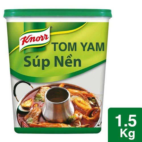 Knorr Súp Nền Lẩu Thái 1.5kg - Knorr Súp Nền Lẩu Thái mang đến hương vị Tom Yam Thái thuần túy, đặc trưng cho nhà hàng!