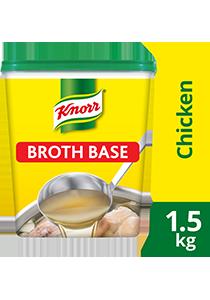 Knorr Súp Nền Thịt Gà 1.5kg - Có ngay nước dùng sánh đậm vị thịt với súp nền Knorr Thịt Gà