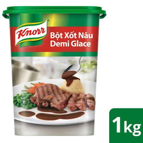 Knorr Xốt Nâu Demi Glace 1kg - Với Knorr Xốt Nâu Demi Glace chỉ mất 3 phút để có ngay xốt nâu thượng hạng cho món bò hầm.