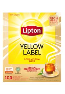 Lipton Trà Nhãn Vàng không bao giấy 100x2g - Trà lipton nhãn vàng mang đến cho bạn trà có chất lượng cao và đồng nhất