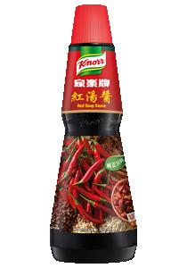 家樂牌紅湯醬 - 家樂牌紅湯醬,正宗川廚配方,輕易掌握地道豐富香辣及麻辣風味。