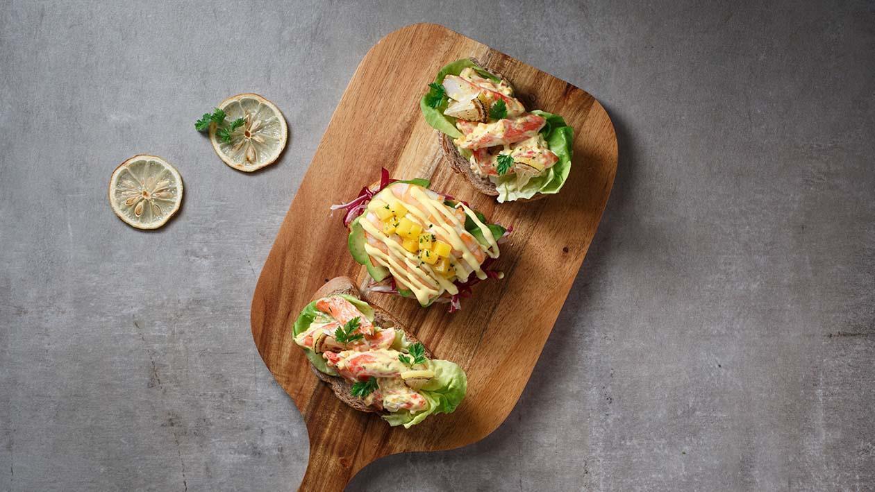 亞拉斯加蟹肉沙律裸麥包 – 食譜詳情