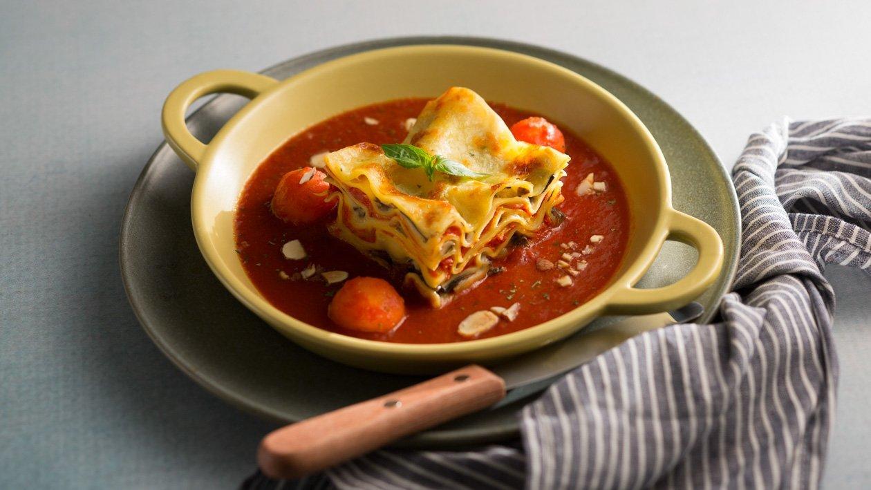卡邦尼汁焗野菌千層麵 – 食譜詳情