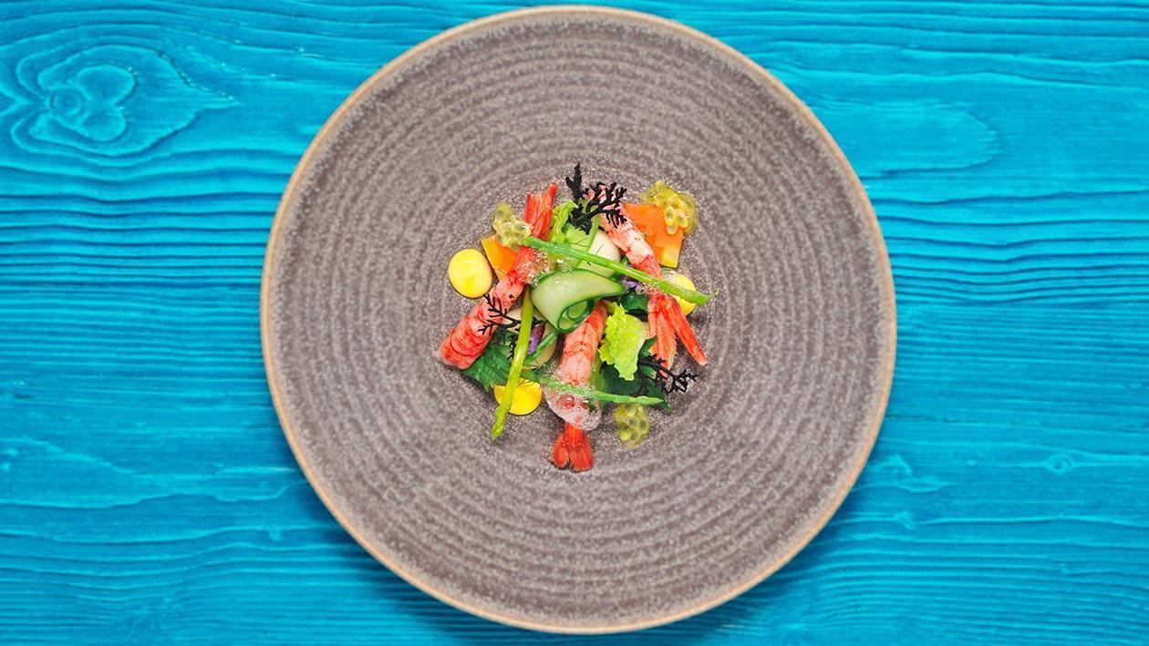 大蝦凱撒沙律伴紅蘿蔔凍批 – 食譜詳情