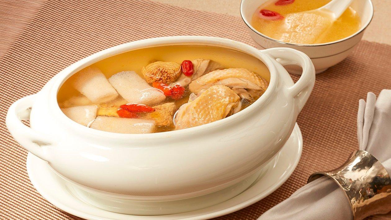 姬松茸竹笙燉雞湯 – 食譜詳情