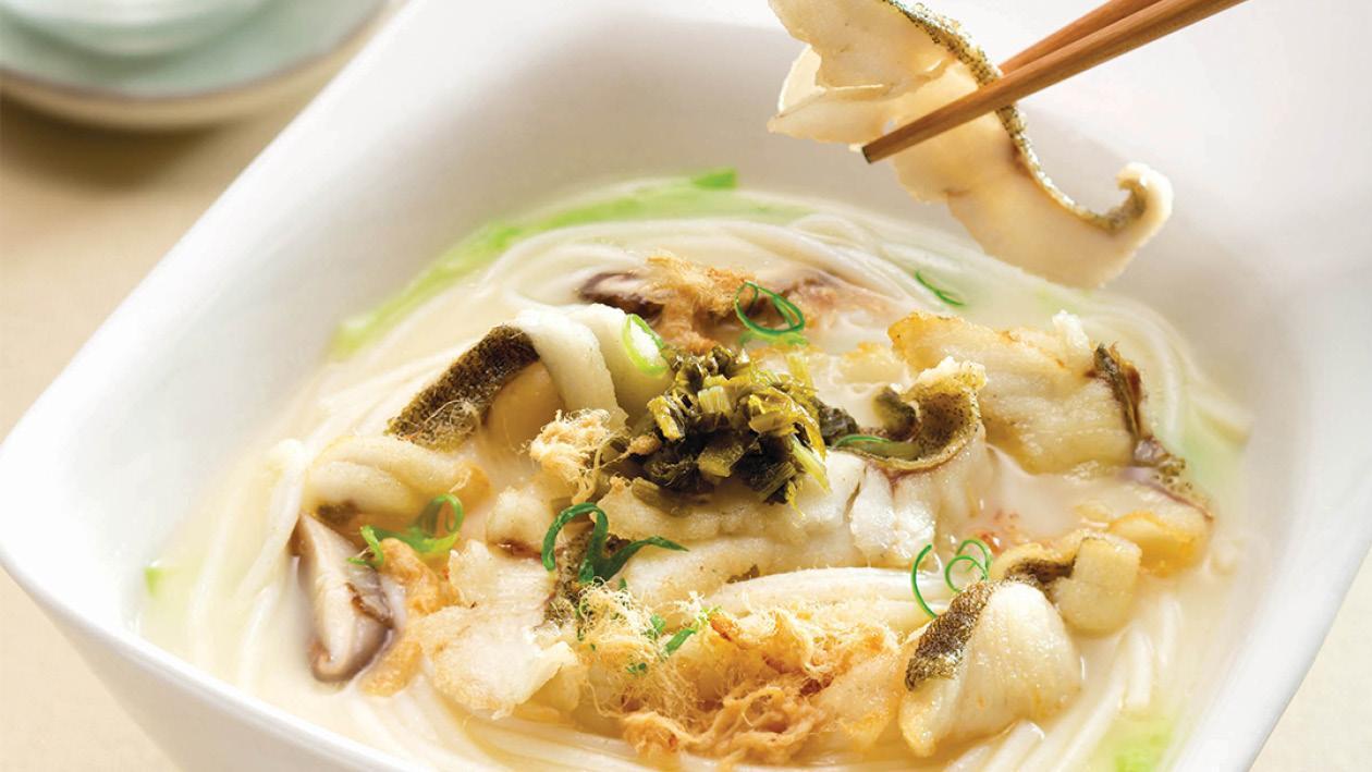桂魚濃湯上海米線 – 食譜詳情