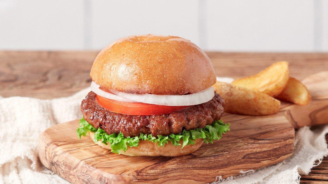 植系牛肉漢堡包 – 食譜詳情
