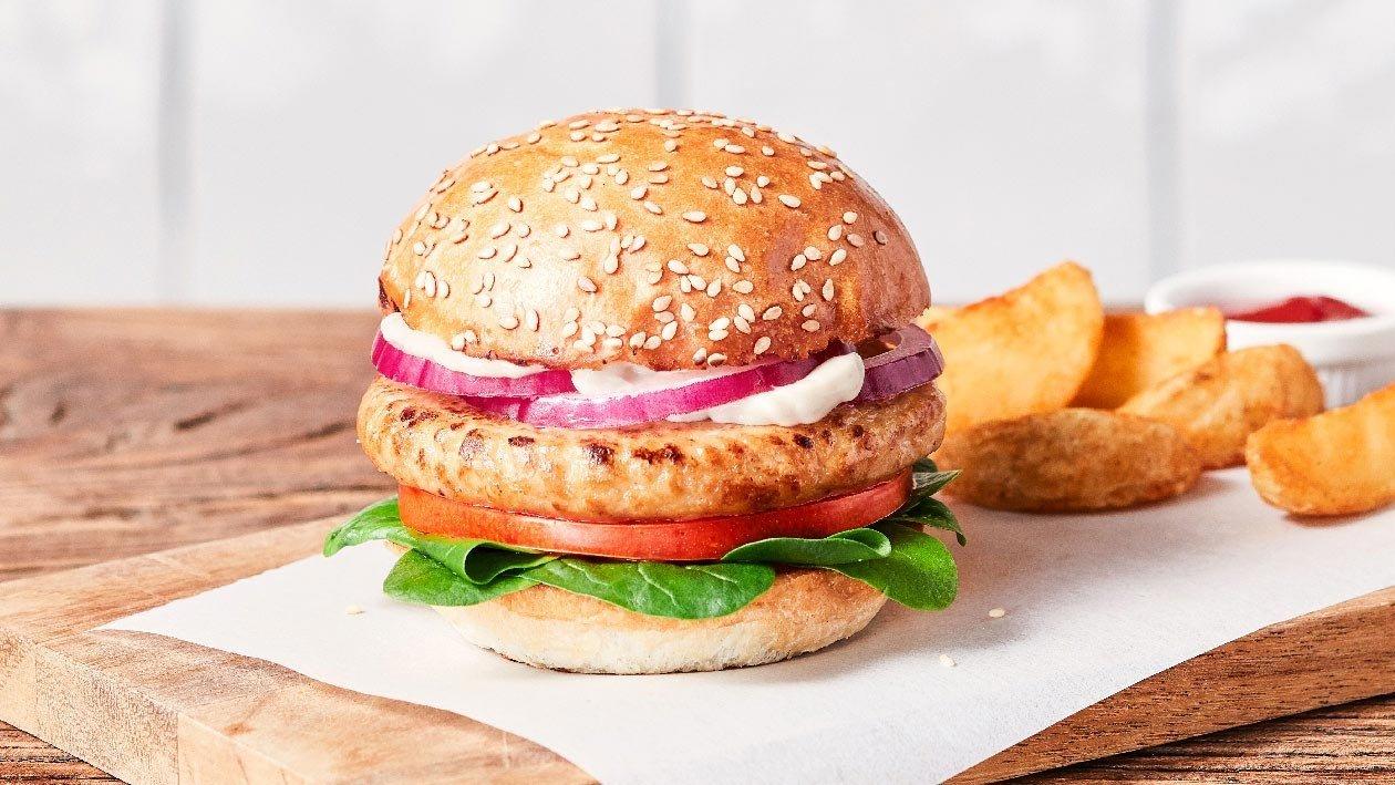 植系雞肉漢堡包 – 食譜詳情
