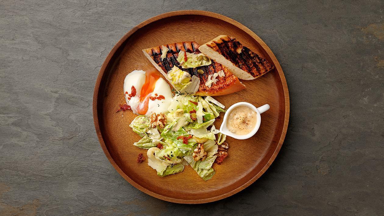 碳烤法國麵包溫泉蛋凱撒沙拉 – 食譜詳情