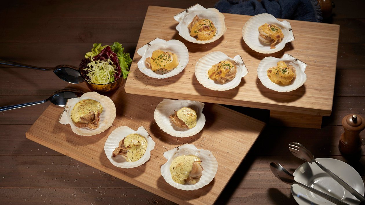 荷蘭雙醬焗扇貝 – 食譜詳情