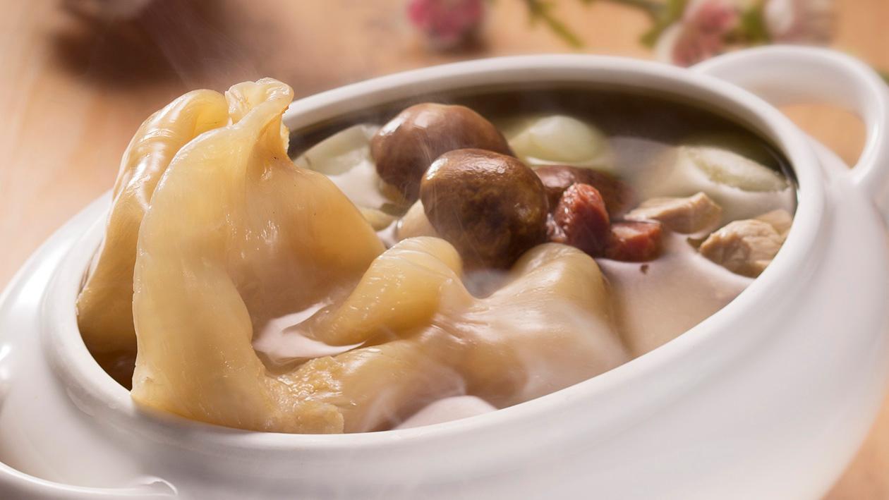 菜膽松茸燉花膠 – 食譜詳情