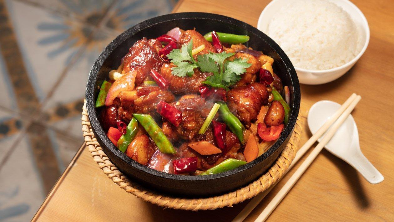 蔥燒麻香四季豆辣雞煲 – 食譜詳情