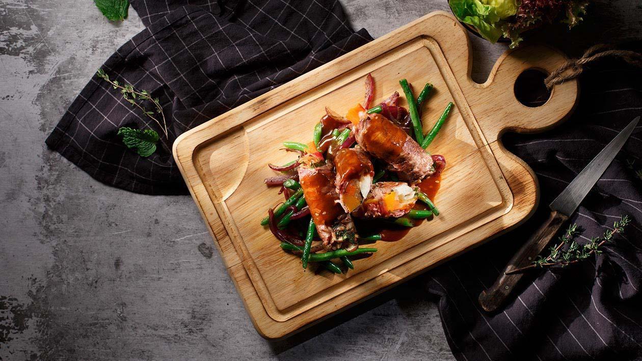 蔬菜牛肉卷配薑味黃汁 – 食譜詳情