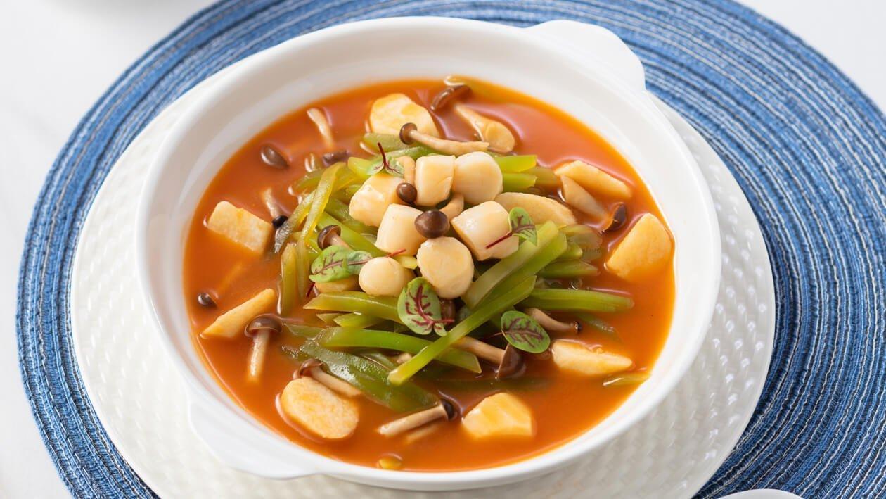 蕃茄濃湯浸萵筍帶子 – 食譜詳情
