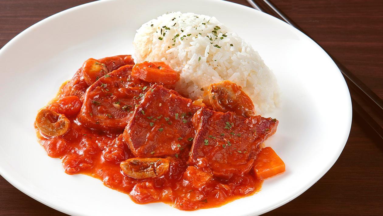 蕃茄燴牛脷飯 – 食譜詳情