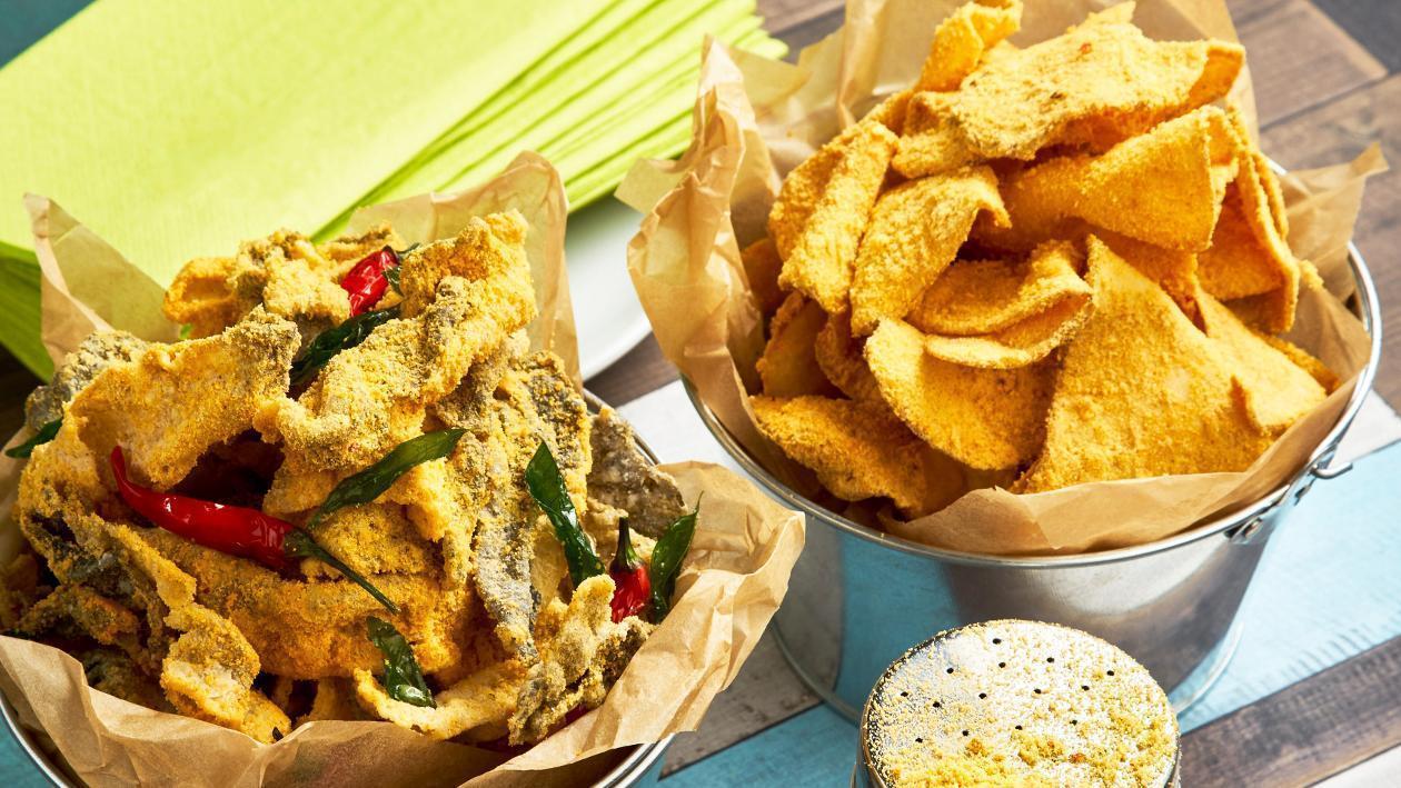 薯片魚皮拌金沙粉 – 食譜詳情