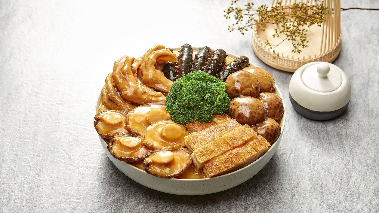雙蠔蠔油五福聚寶盤 – 食譜詳情