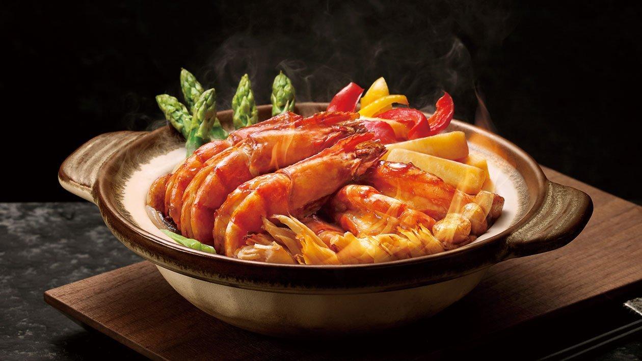 雙蠔蠔油火焰焗大蝦 – 食譜詳情