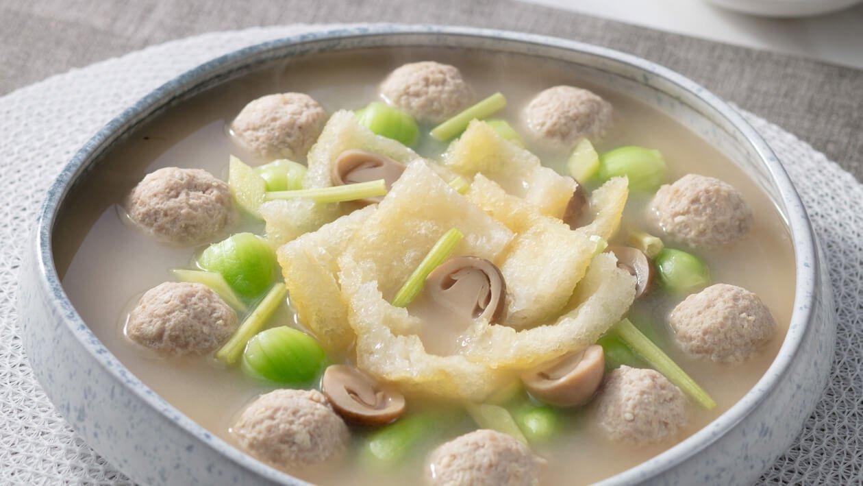 香濃魚湯浸鮮蔬肉丸 – 食譜詳情