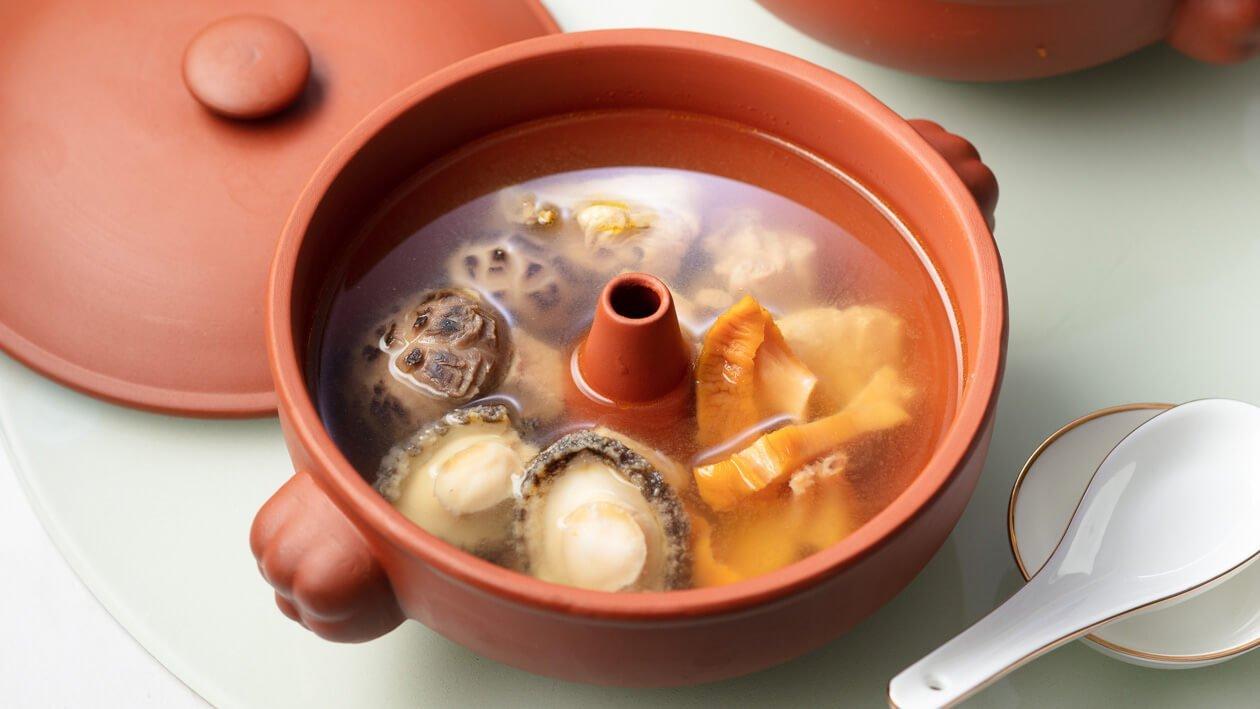 鮑魚螺頭汽鍋燉鮮雞湯  – 食譜詳情