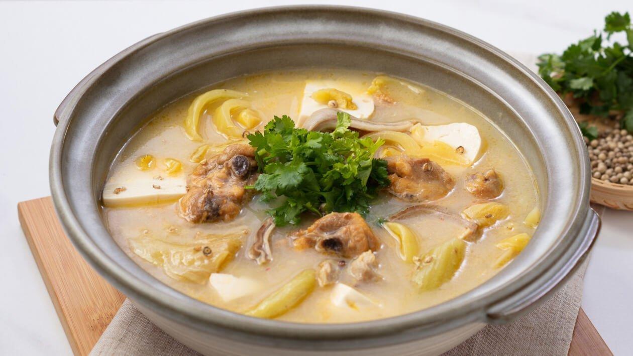 鹹菜胡椒豬肚雞上湯 – 食譜詳情