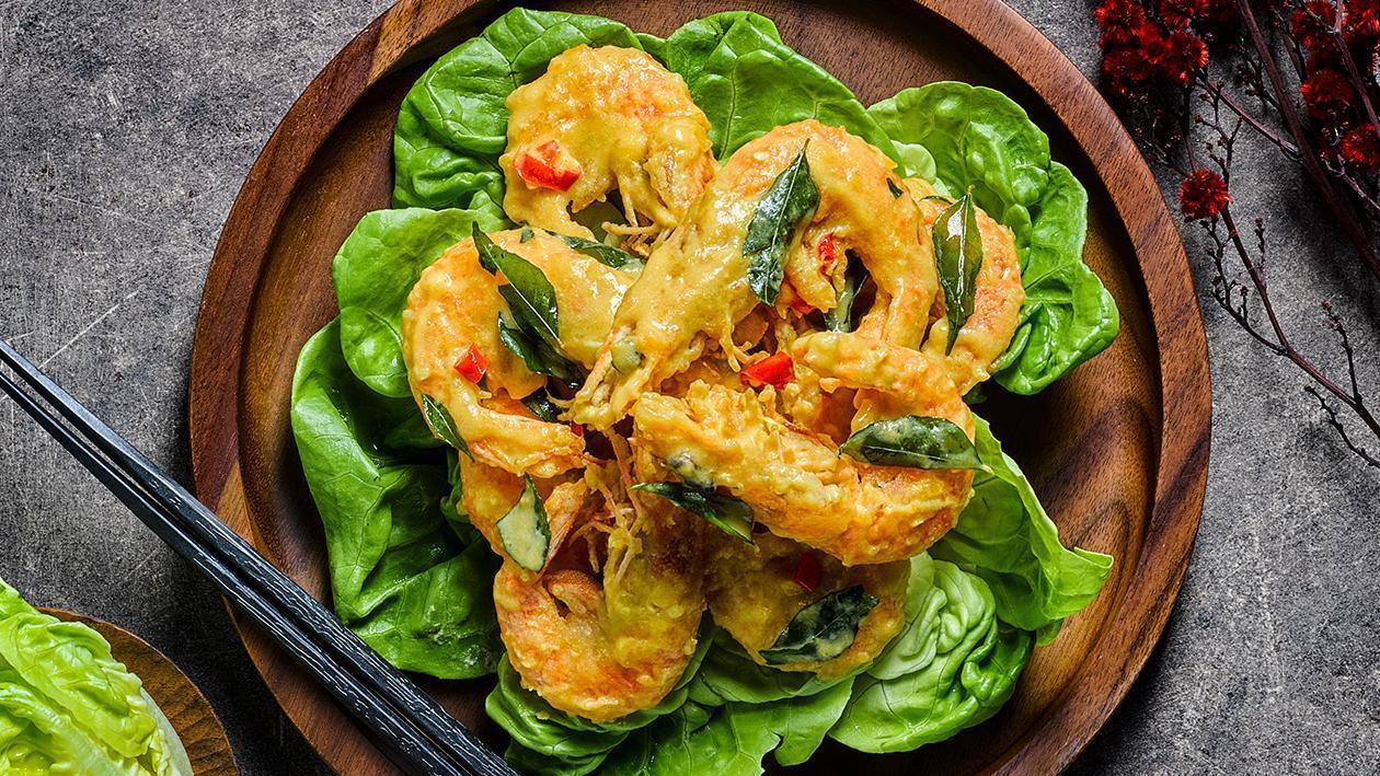 鹹蛋蝦 – 食譜詳情