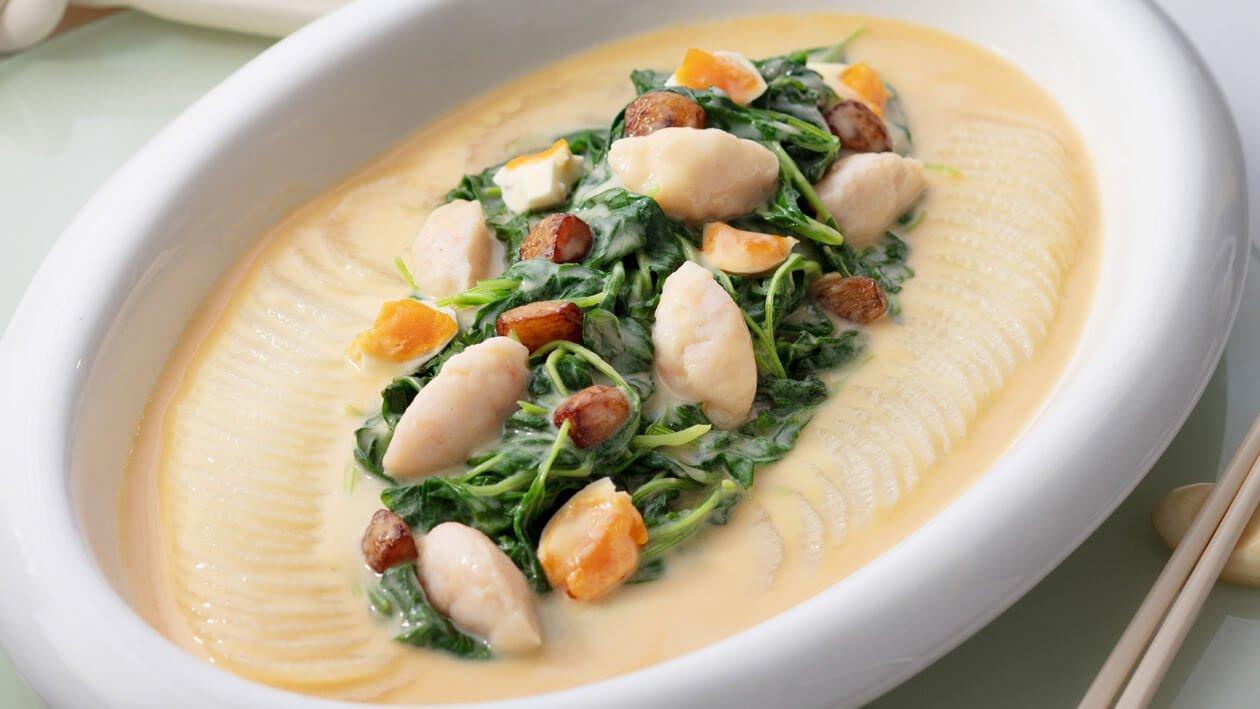 黃金鹹蛋湯浸莧菜蝦滑 – 食譜詳情
