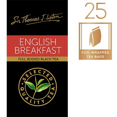 立顿英国早餐茶袋 25x2.4g