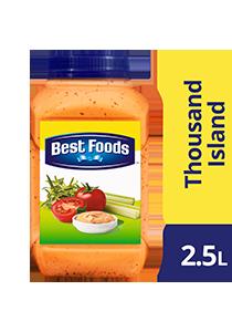顶好牌千岛沙拉酱 2.5L - 以纯正番茄和小黄瓜切块以传统配方制成,顶好牌千岛沙拉酱是广受推崇的经典酱料。